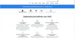 AVG Datenschutz